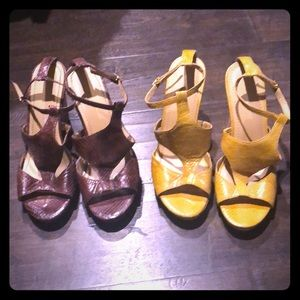 "Nine West wedges 5"" heel"